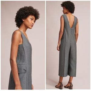Anthropologie Oxford Jumpsuit S Gray Cartonnier 6